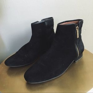 Louise Et Cie Suede and Pony Hair Booties